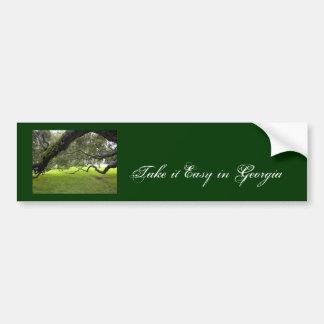 Georgia Oak Car Bumper Sticker