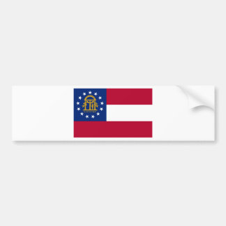 Georgia  Official State Flag Bumper Sticker