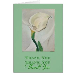 Georgia O'Keeffe White Cala Lily Thank You Card