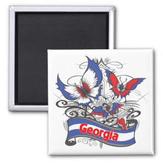 Georgia Patriotism Butterfly Magnet