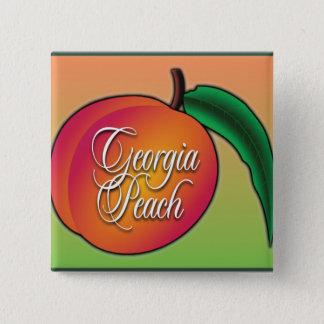Georgia Peach 15 Cm Square Badge