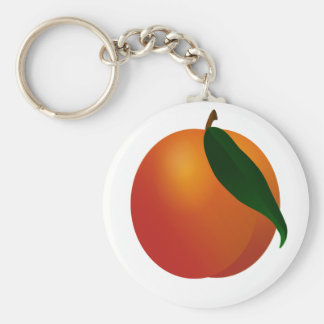 Georgia Peach / Apricot Fruit Key Ring