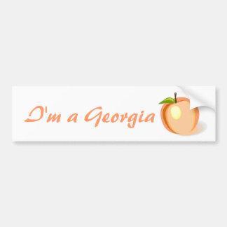 Georgia Peach bumper sticker