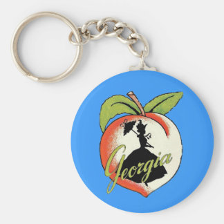 Georgia Peach Keychain