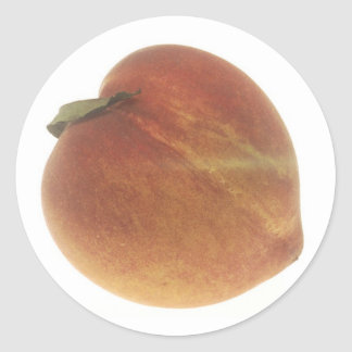 Georgia Peach Round Stickers