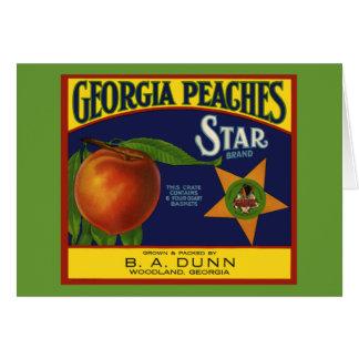 Georgia Peaches Card