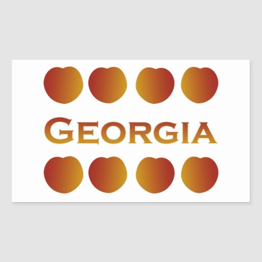 Georgia Peaches Logo Rectangle Stickers