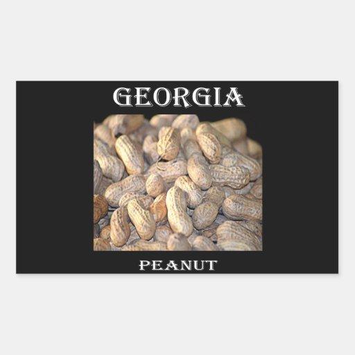 Georgia Peanut Rectangular Sticker