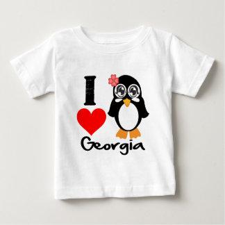 Georgia Penguin - I Love Georgia Baby T-Shirt