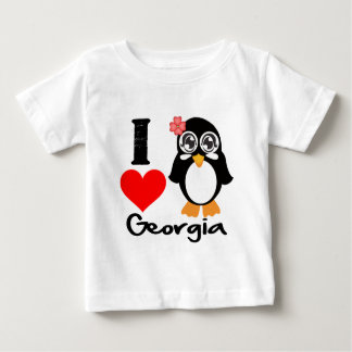Georgia Penguin - I Love Georgia Tshirts
