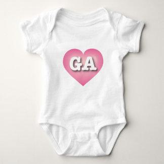 Georgia Pink Fade Heart - Big Love Baby Bodysuit