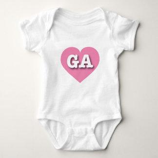 Georgia Pink Heart - Big Love Baby Bodysuit