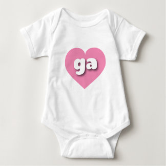 georgia pink heart - mini love baby bodysuit