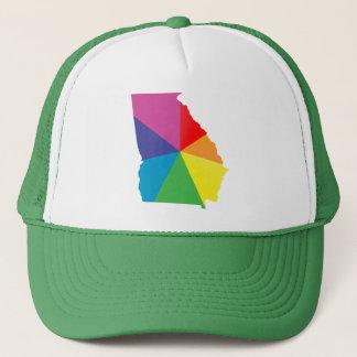 georgia pride. angled. trucker hat