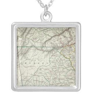 Georgia, pts of NC, SC, Tenn, Ala, Florida Silver Plated Necklace