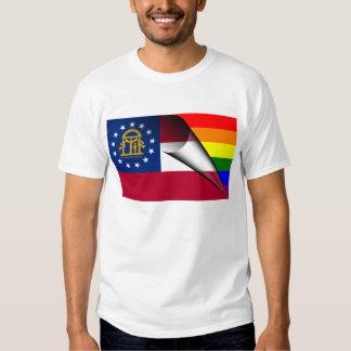 Georgia Rainbow Flag T-shirts