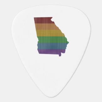Georgia Rainbow Gay Pride Guitar Pick
