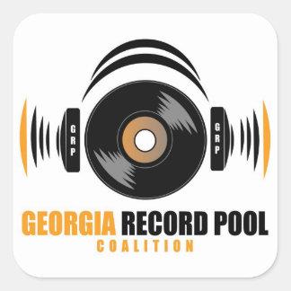 GEORGIA RECORD POOL SQUARE STICKER