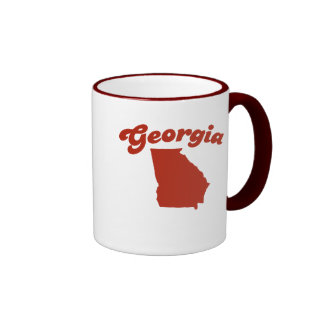 GEORGIA Red State Ringer Mug