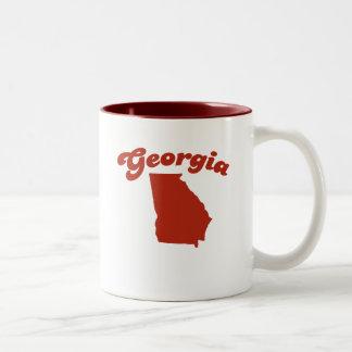 GEORGIA Red State Two-Tone Mug