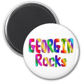 Georgia Rocks 6 Cm Round Magnet