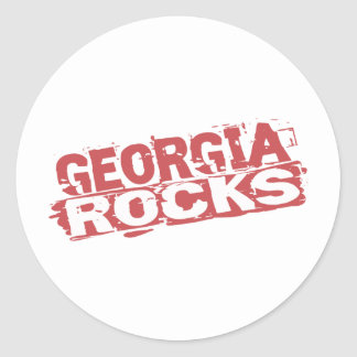 Georgia Rocks Round Stickers
