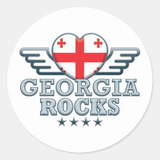 Georgia Rocks v2 Round Sticker