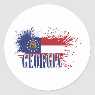 Georgia Round Sticker