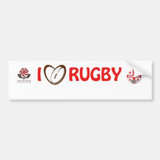 georgia rugby Sticker Bumper Sticker