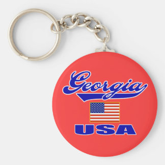 Georgia Script Keychain