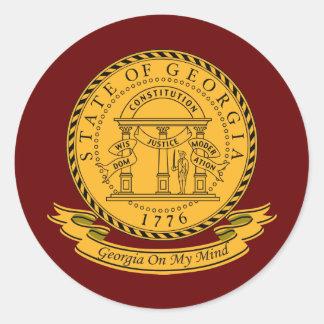 Georgia Seal Round Sticker