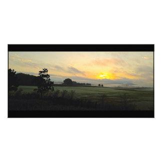 Georgia Sod Farm Sunrise Customized Photo Card