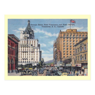 Georgia St., Vancouver, Canada Vintage Post Cards