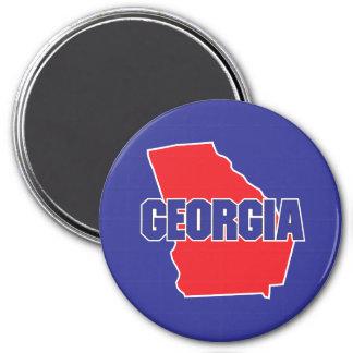 Georgia State 7.5 Cm Round Magnet