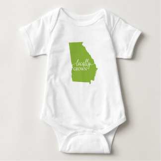 Georgia State Bodysuit, Locally Grown in Georgia Baby Bodysuit