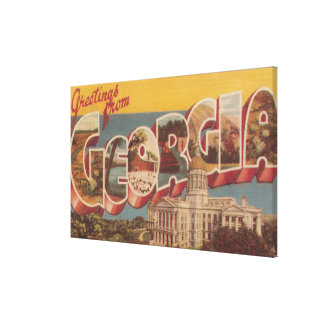 Georgia (State Capital) - Large Letter Scenes Canvas Print