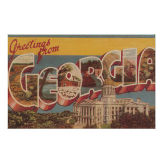Georgia (State Capital) - Large Letter Scenes Print