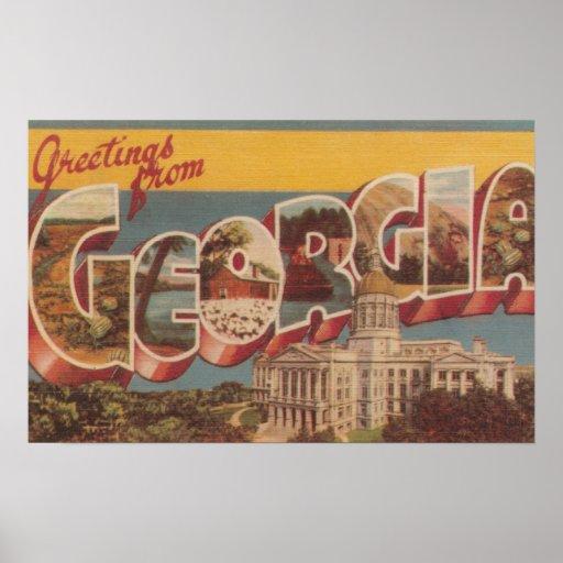 Georgia (State Capital) - Large Letter Scenes Print