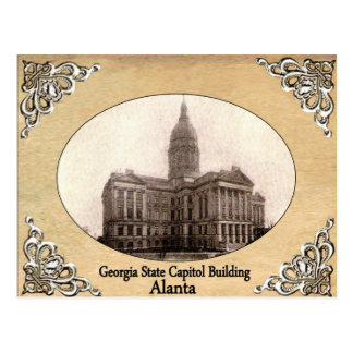 Georgia State Capitol Building Old Postcard