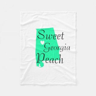 Georgia State Custom Fleece Blanket, Baby Fleece Blanket