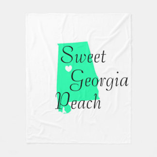 Georgia State Custom Fleece Blanket, Medium Fleece Blanket