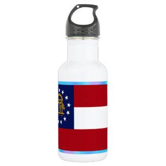 Georgia State Flag 532 Ml Water Bottle