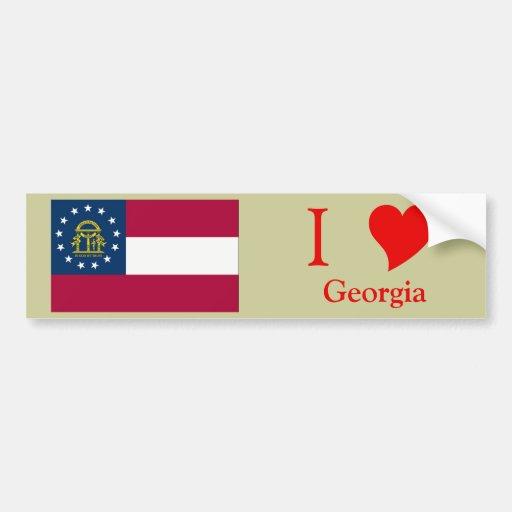 Georgia State Flag Bumper Sticker