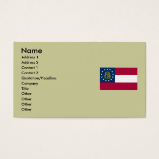 Georgia State Flag Business Card