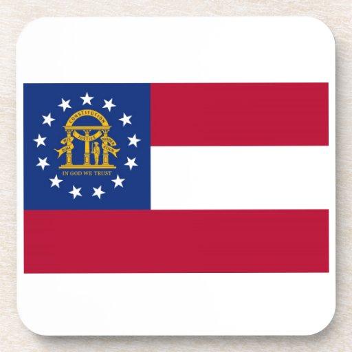Georgia State Flag Drink Coaster