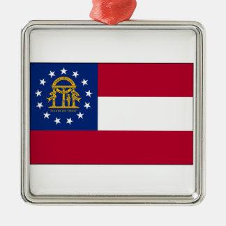 Georgia State Flag Christmas Tree Ornament