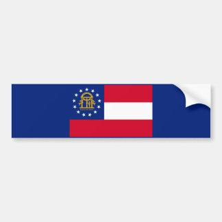 Georgia State Flag Design Bumper Sticker