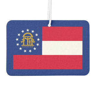 Georgia State Flag Design Car Air Freshener