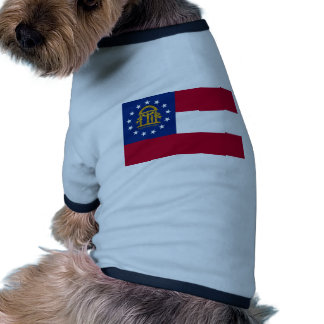 Georgia State Flag Doggie Tshirt