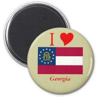 Georgia State Flag Magnet